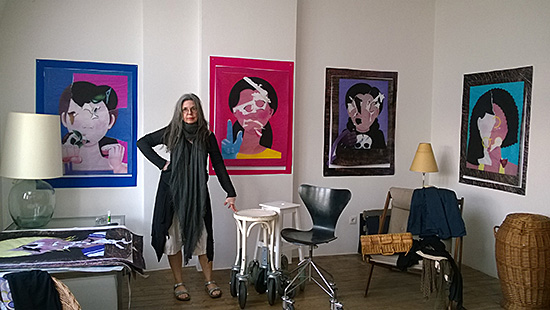 At the home and studio of artist Marina Faust