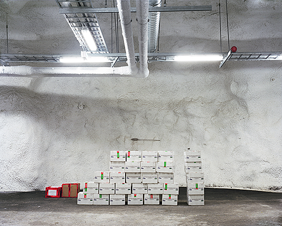 "Dornith Doherty, ""Seed Accessions, Svalbard Global Seed Vault"", from the series Archiving Eden: The Vaults  (2008–present). Photo courtesy of the artist."