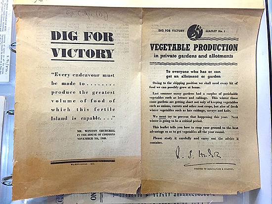 Fig. 6 and 7. Dig For Victory leaflet No. 1, 1941. Original document, Imperial War Museum Archives.