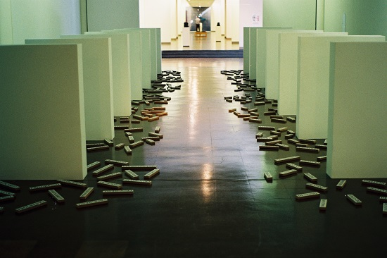 Willem Boshoff Writing that Fell Off the Wall (1997) Type on paper, wood, and paint on Masonite; 26 feet x 79 feet (variable). Collection of Johannesburg Art Gallery. Photo: courtesy of the artist