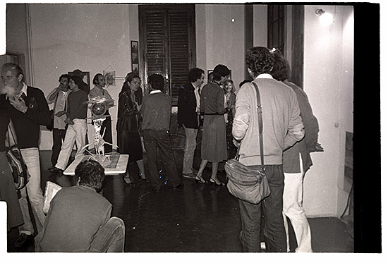 Ill.5 Claudio Costa Exhibition Opening in Salone Villa Romana, October 1980, Villa Romana, Florence