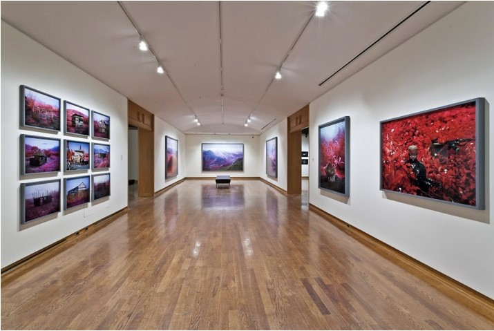Richard Mosse, installation view, University of Toronto Art Centre, 2012. PUBLIC: Collective Identity | Occupied Space. Photo: Toni Hafkenshied.